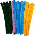 Giant Fluffy Pipe Cleaners Assorted Colours (Tub 100)