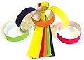 Gummed Coloured Party Chains (90 strips)