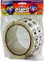 Adhesive Wiggly Eyes Stickers Black & Assorted Styles (2000 stickers)