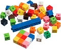 1cm Linking Cubes Assorted Colours (Set 1000)