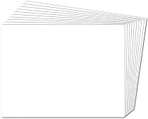 A4 Blank Whiteboards 1000 micron (Set 30)