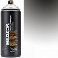 Montana BLACK Spray Paint Can 400mls Silver Chrome