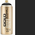 Montana GOLD Spray Paint Can 400mls Shock Black