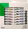 Reeves Acrylic Paint Tubes 10ml (Pack 24)