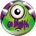 Reward Button Pin Badges 25mm Go Maith! 25mm (Pack 20)