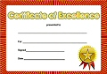 A5 Reward Certs Certificate of Excellence (Pack 10)