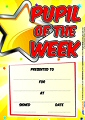 A5 Reward Certificates Pupil of the Week (Pack 20)