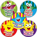 Phonics Praise Stickers 25mm (125 stickers)