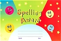 A5 Reward Certificates Spelling Award (Pack 25)