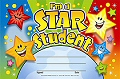 A5 Reward Certificates Im a Star Student (Pack 25)