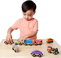 Wooden Magnetic Train Cars (9 Cars)