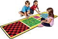 4-in-1 Game Rug (Rug & 36 Double-Sided Wooden Game Pieces)