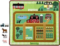 Round the Barnyard Farm Rug (Rug & 4 Farm Figures)