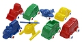 Plastic Vehicles for Traffic Mat/Box 9cm (8 vehicles)