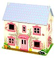 Rose Cottage Doll House (Includes furniture & dolls)