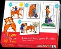 The Tiger Who Came To Tea 4 in 1 Puzzles (12, 16, 20 & 24 piece)