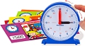 Pupils 12 Hour Synchronised Clock 11cm with 12 Activity Cards