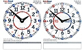 Teachers EasyRead Double Sided Dry Wipe Demo Clock