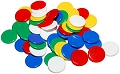 Round Counters 5 Assorted Colours 22mm (Bag 500)