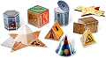 3D Real World Folding Geometric Shapes (Set 32)