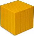 Non-Linking Base Ten Cube/Thousand Yellow