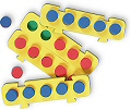 Foam Five Frames Numeration Boards & Pegs (5 Five Frames & 25 Pegs)